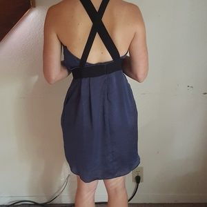 BCBGeneration Strappy Dark Blue Dress Size 4